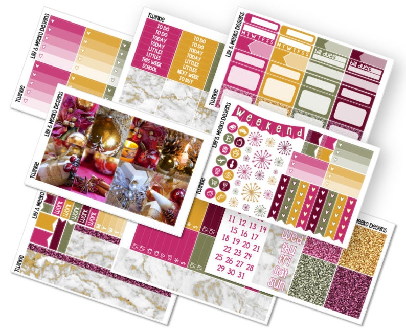 Twinkle Planner Sticker Kit | Deluxe No White Space | For Use in Erin  Condren Vertical Life Planner Michaels Recollections 1 5