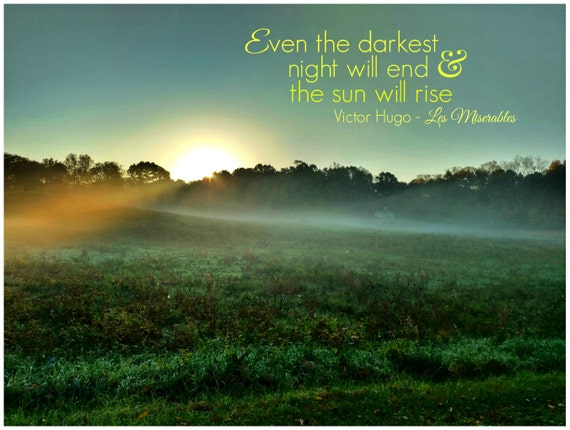 Inspirational Sunrise Quote Photo Photo With Quote Sun Etsy