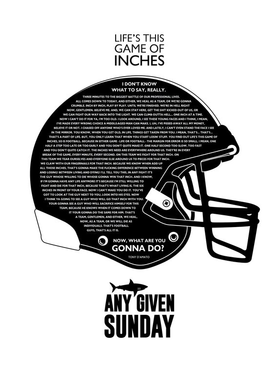 A2 Any Given Sunday Film Print