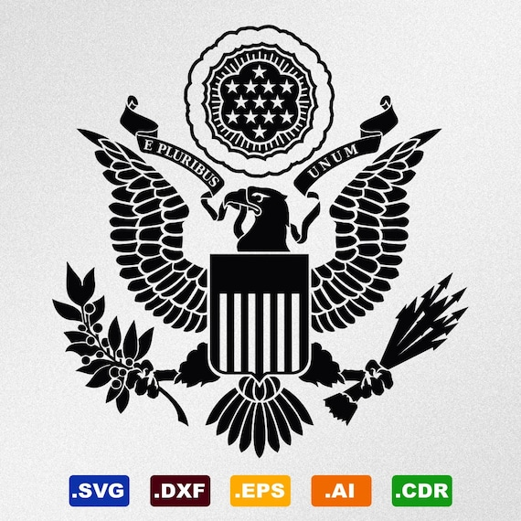 American Eagle Great Seal Full Version Symbol Coat Of Arms Etsy