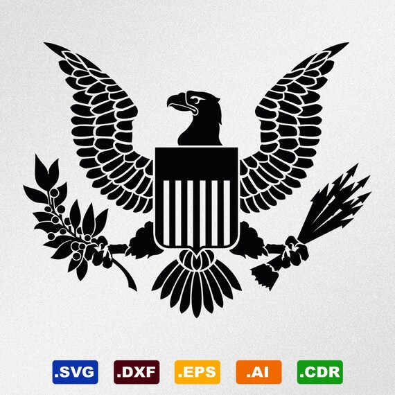 American Eagle Great Seal Symbol Emblem Coat Of Arms Svg Dxf Etsy
