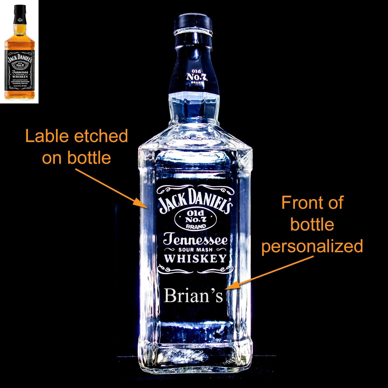 Jack Daniel\'s Whiskey Custom Engraved/Etched &   Etsy