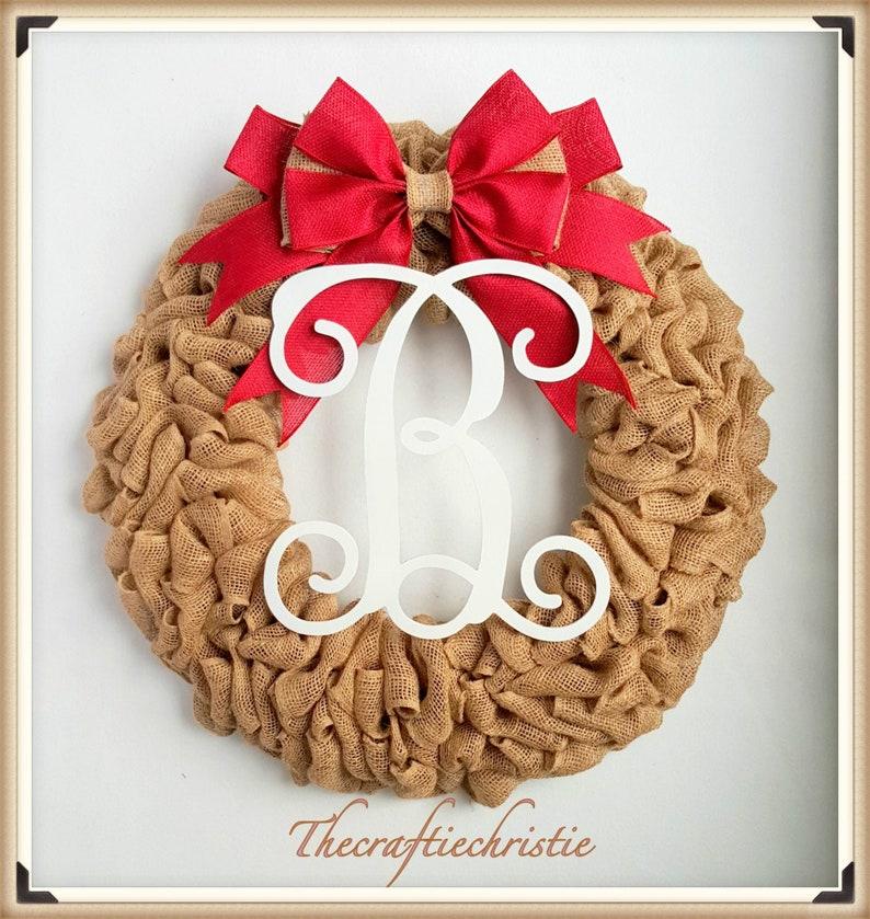 Christmas Wreath-Front Door Decor-Rustic Wreath-Burlap Wreath-Front Door Christmas Wreath-Holdiay Wreath-Holiday Decorations-Christmas Gifts
