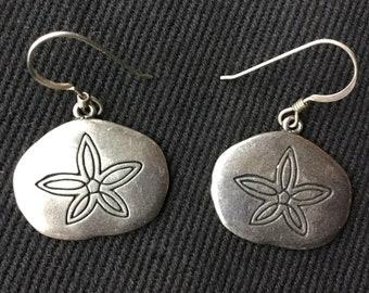 Sterling silver G&S sand dollar earrings