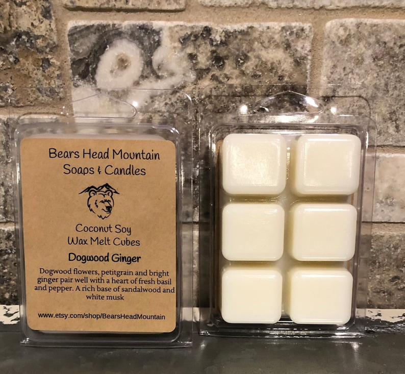 1 Dogwood Ginger  Wax Melt Cubes 6 Cube Package