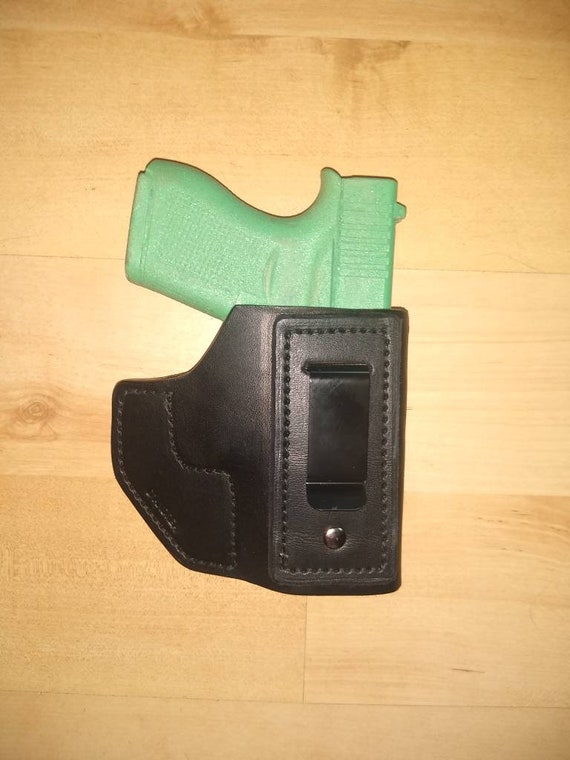 Leather Holster, Taco style, One-of-a-kind IWB Holster for your Glock