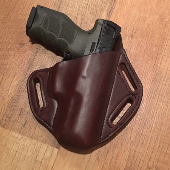 Leather Holster, custom crafted premium leather HK VP9 Holster, EDC, OWB