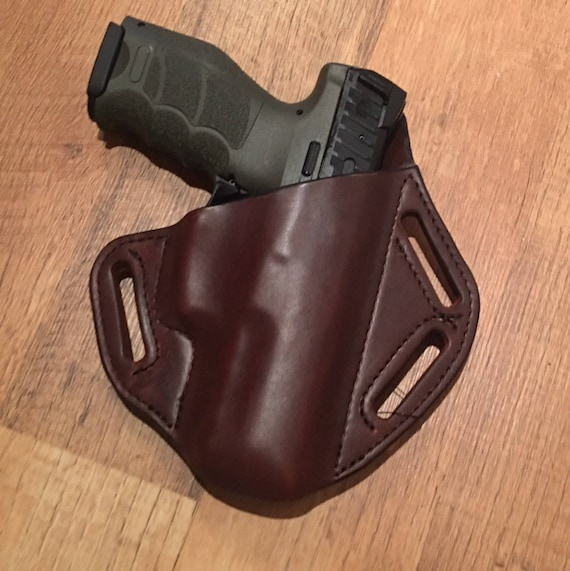 Leather Holster, custom crafted premium leather H&K P2000 Holster, EDC, OWB