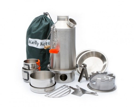 Kelly Kettle, BOIL WATER Ultra-Fast in the outdoors with the famous Kelly Kettle Ultimate Base Camp Kit