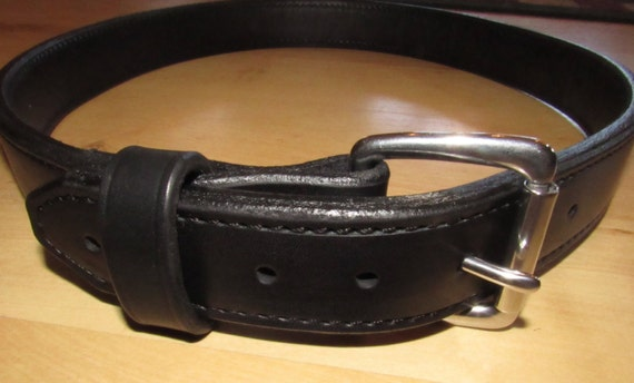 Leather Gun Range Belt and/or Instructors Carry Belt.  Handcrafted double layer Premium Leather with Heavy Duty Belt Buckle for EDC