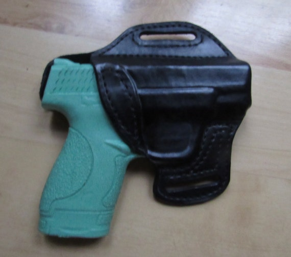 Leather Holster for S&W Shield custom crafted from premium leather for EDC, OWB