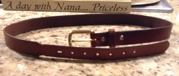 "Leather Belt, quality handcrafted to 1 1/2"" and tapered with premium leather for Dress Belt with Buckle"