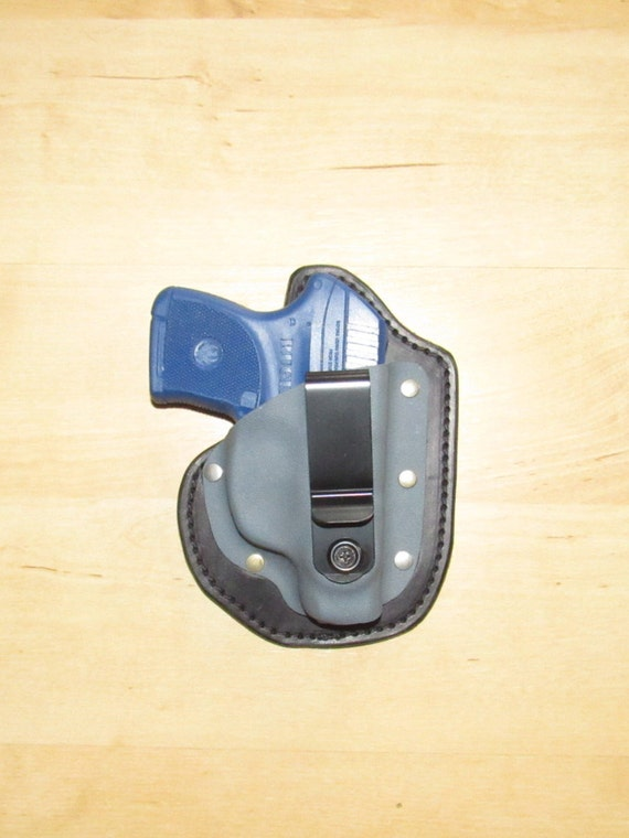Leather and Kydex Hybrid Holster for Ruger LCP for EDC,  IWB
