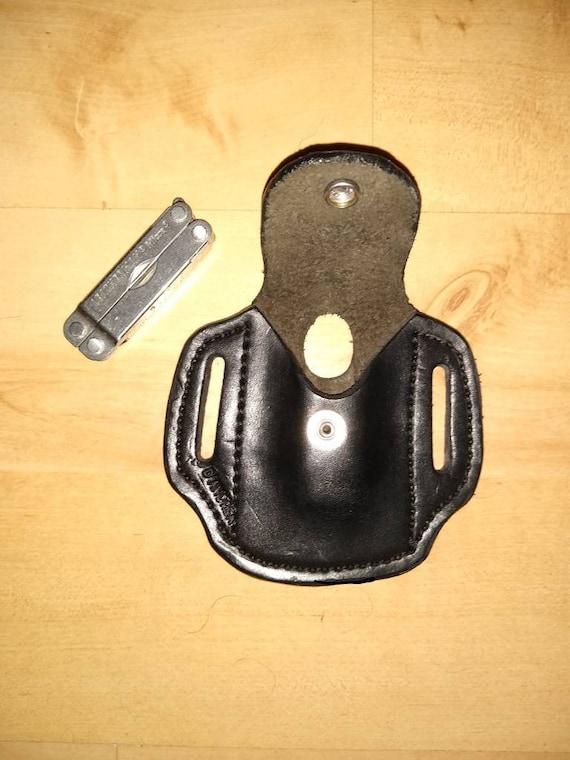 Leather Sheath, small custom crafted sheath, Leatherman © Micra Sheath, custom Micra Case, Leather case, leather small Sheath EDC, OWB