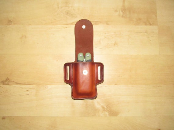 Leather Sheath, Leather Case customized to FRN, Sryderco sheath for Multitool Asist
