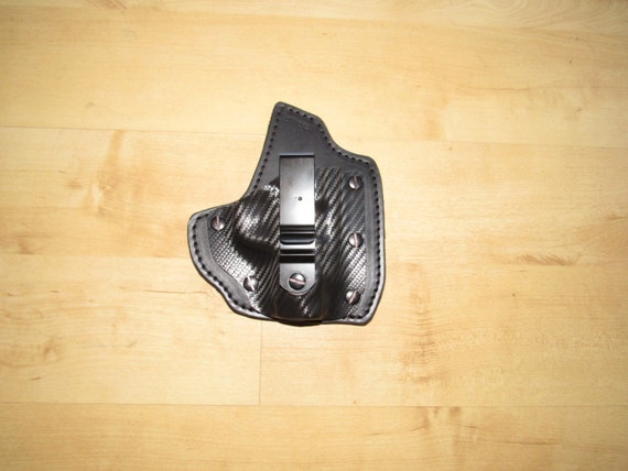 Leather and Holstex Hybrid Holster for Sig P938 with soft Deer hide backing for comfort for EDC, IWB