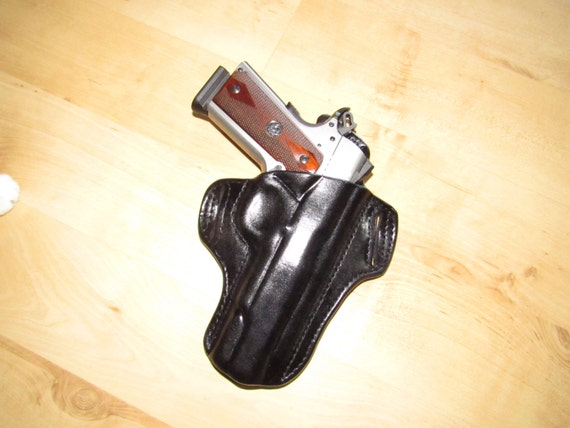 "Leather Holster for 1911 Leather 5"" Barrel custom crafted from premium leather for OWB"