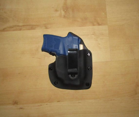 Leather and Kydex Hybrid Holster for the Bodyguard 380 with Crimson Trace GREEN Laser or red EDC, IWB