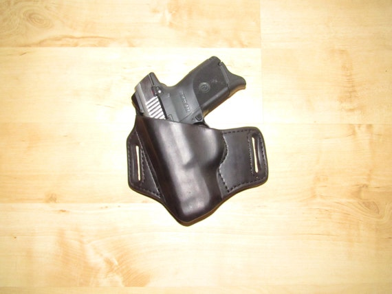 Leather Holster for LC9, custom crafted from premium leather for EDC, OWB