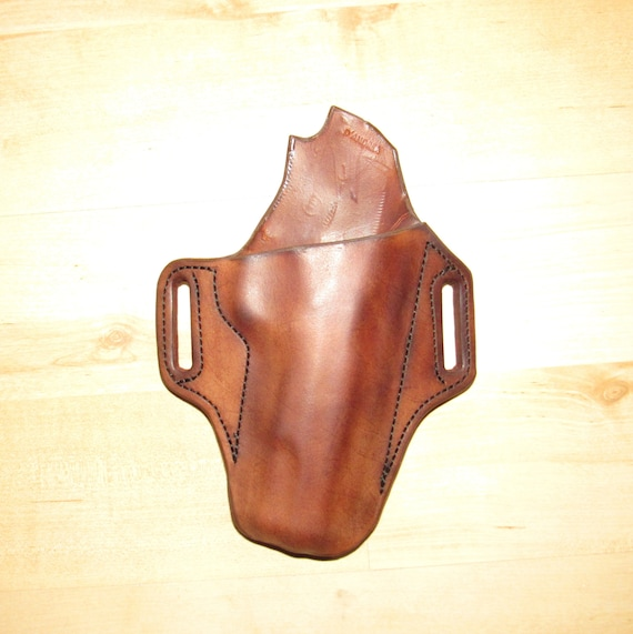Leather and Kydex Hybrid Holster for Ruger American, EDC, IWB