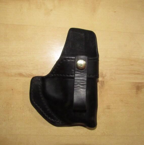 Leather Holster, Holster for Shield w/laser, EDc, IWB