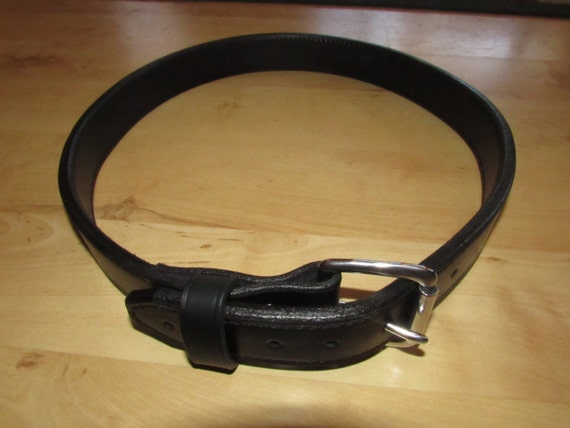 Leather Gun Belt, Hook& Loop Closer, or Heavy duty Buckle, Range Belt, Premium Leather, 2 layers Incorporated into your Belt. Handcrafted