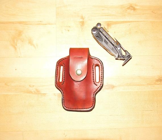 Leather sheath custom crafted Leatherman© MUT sheath, custom replacement sheath, leather case, belt, EDC, OWB