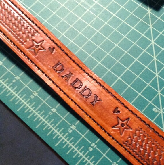 "Leather Belt, Personalized belt, handcrafted Belt to 1 1/2"", customize with your name or stamps to your ideas or your design"