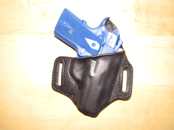 Leather Holster for 1911 Compact, custom crafted Holster from premium leather for OWB