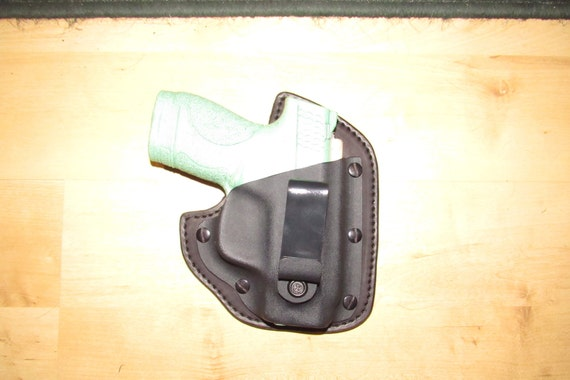 Leather and Kydex Hybrid Holster for M&P Shield Custom Crafted, EDC, IWB