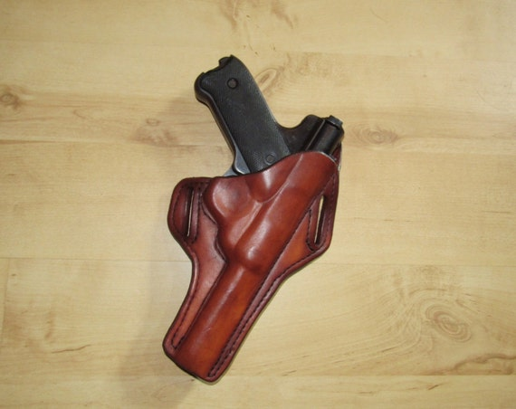 "Leather Holster for a Ruger Standard-Mark 1 with 4"" barrel, custom crafted from premium leather for comfort, OWB"