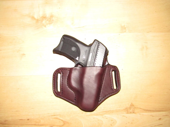 Leather Holster, Custom leather LC9 holster, EDC, OWB