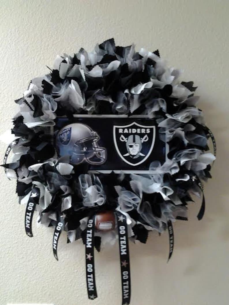 e2fffa26 Oakland Raiders Wreath - Raiders Fans - Number one raiders fans - Raiders  gift - Raiders home decor
