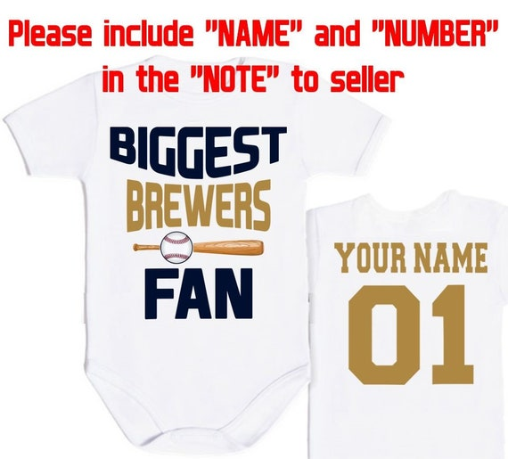97976bfebc1 BIGGEST Milwaukee Brewers fan MLB Baby Vest Baby Bodysuit