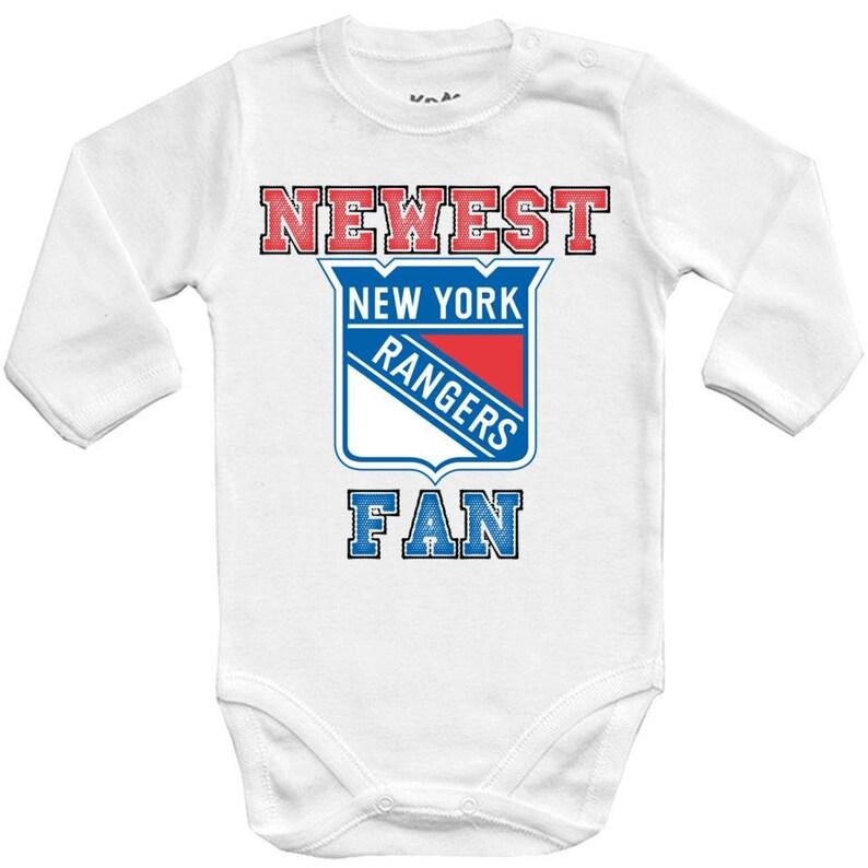 3ab71039c New York rangers Newest fan NHL Baby Vest Baby Bodysuit Funny