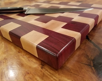 End Grain Cutting Board, Butcher Block cutting board, Carving Board, Bread Board, Valentines gift for her, Wedding Gift, Housewarming gift