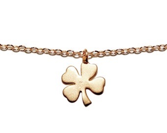 Gold Shamrock Necklace