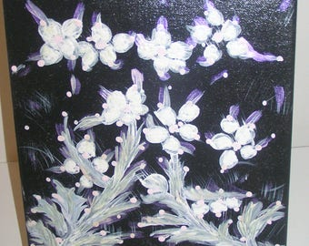 Painting acrylic flowers white