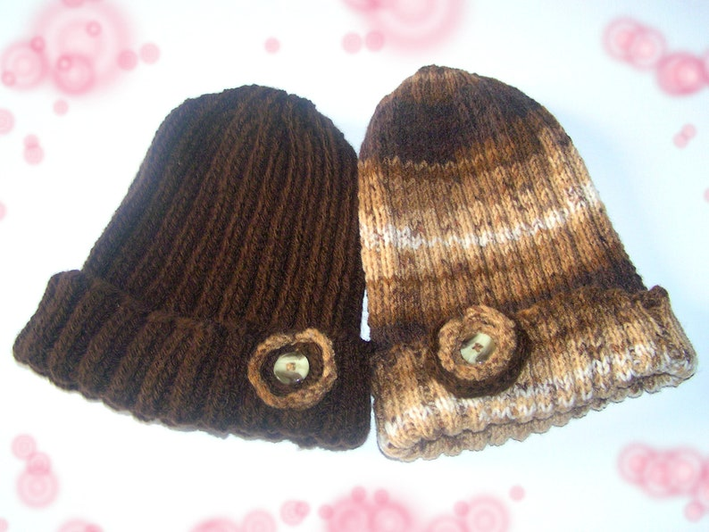 24eb2142ca9 Valentine set 2 adult Beanies assorted chocolate coffee