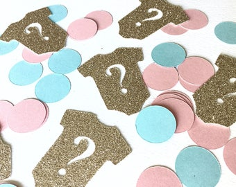 Gender reveal confetti.  Gender reveal party.  Team pink team blue.  Gender reveal pins.  Gender reveal confetti. Gender reveal decorations.