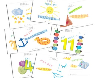 Baby step cards - the baby's first year