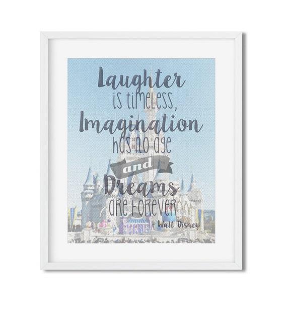 Walt Disney World Cinderella Castle: Walt Disney Quote, Disney Print -  Great for Disney Fans! Disney Wall Art Disney Home Decor