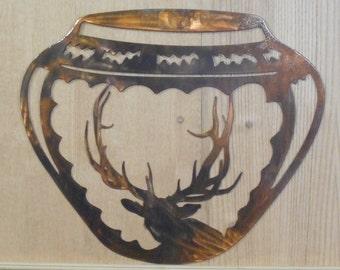 Elk Indian Pottery Wall Art