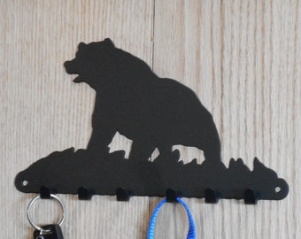 Walking Black Bear leash key holder - [4500007]