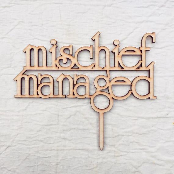 Harry Potter Mischief Managed Wedding Cake Topper