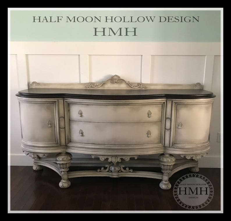 Superb Sold Antique French Country Buffet Jacobean Hand Painted Sideboard Shabby Chic Console Cabinet Distressed Entryway Table Download Free Architecture Designs Scobabritishbridgeorg