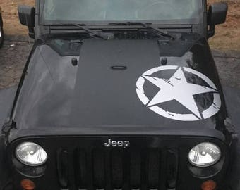 JEEP OSCAR MIKE STAR HOOD DECAL FREEDOM EDITION WRANGLER TJ JK JKU CHOOSE COLOR