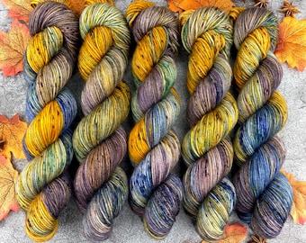 Americano DK Weight | 100% SW Merino Wool | Spiked Gingerbread Coffee  | Hand Dyed Yarn | Superwash wool