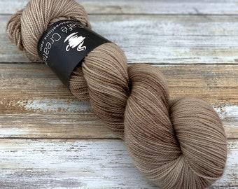 2-ply Fingering Weight   Sand   Hand Dyed Yarn   Superwash Merino Wool