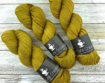 85/15 SW Merino/Wool Sock Weight| Dijon | Hand Dyed Yarn | Superwash wool